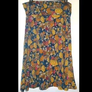 LuLaRoe Cassie Skirt paisley floral XL Fun!